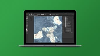 ArcGIS Maps for Adobe Creative Cloud en Adobe Illustrator, mostrando un mapa atractivo visualmente.